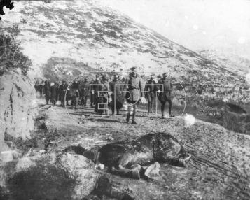 Βαλκανικοί Πόλεμοι - Εικόνα από το μέτωπο της Ηπείρου. Διακρίνεται ο διάδοχος Κωνσταντίνος