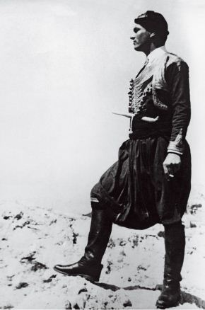 Paddy after the war in Byronic costume; Filedem? Courtesy of Benaki Museum
