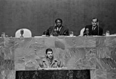 On December 11, 1964, Che Guevara speaks at the United Nations General Assembly in New York.