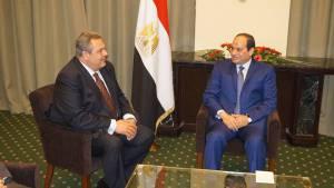 Συνάντηση του προέδρου των ΑΝΕΞΑΡΤΗΤΩΝ ΕΛΛΗΝΩΝ και ΥΕΘΑ Πάνου Καμμένου με τον Πρόεδρο της Αιγύπτου Αμπντέλ Φατάχ Αλ Σίσι (1)