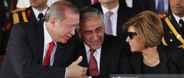 Erdogan-Mustafa Akinci and his wife Meral